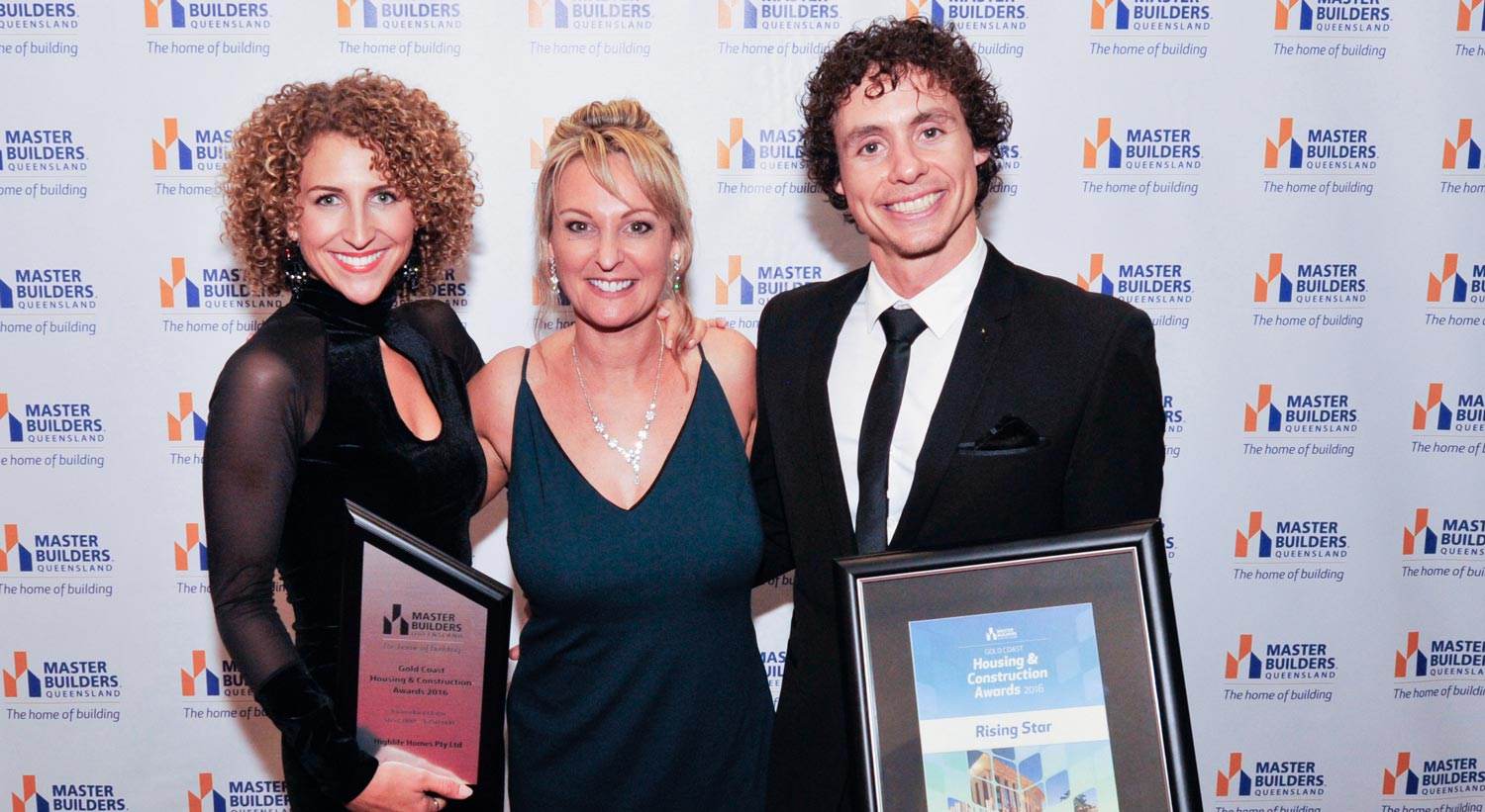 Custom home builder Highlife Homes winning Rising Star Builder and Best Home at the Master Buidlers Awards