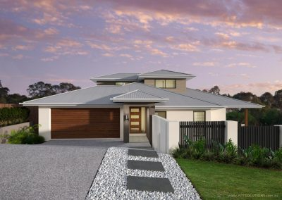 Custom designed duplex built by Highlife Homes in Palm Beach QLD