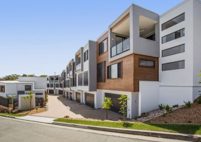Modern townhouses in Tweed Heads