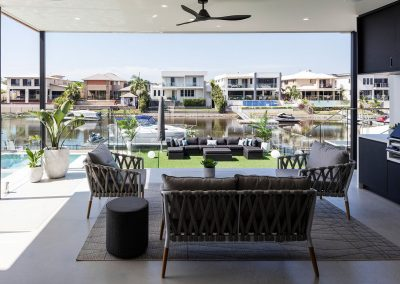 Water Front Entertaining Area in Helensvale by Highlife Homes