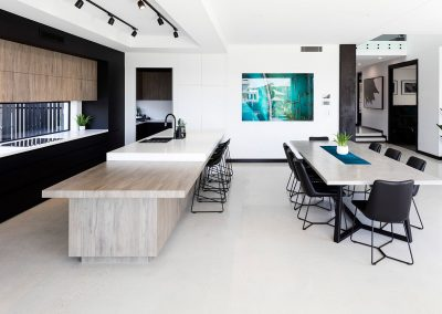 Kitchen and Dining Area Polished Concrete Flooring