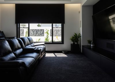 Luxury Media Room by Highlife Homes